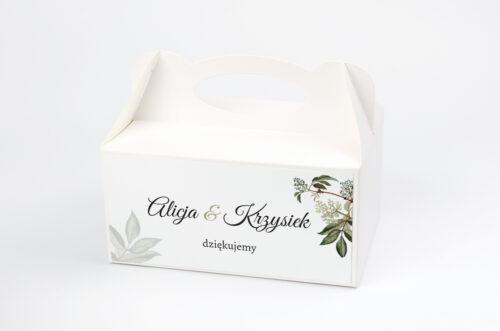 Ozdobne pudełko na ciasto - Botaniczne Jednokartkowe - Czarny bez