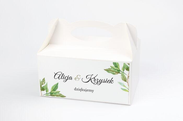 ozdobne-pudelko-na-ciasto-botaniczne-jednokartkowe-zielone-liscie-papier-satynowany-pudelko-