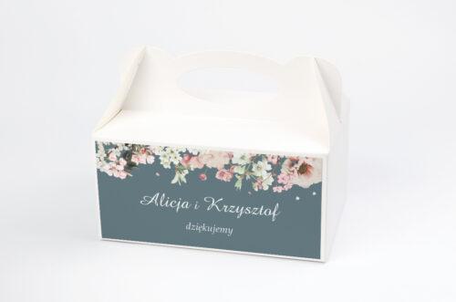 Ozdobne pudełko na ciasto - Duże Inicjały - Kwiaty Wiśni