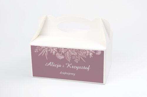 Ozdobne pudełko na ciasto - Duże Inicjały - Konturowe Kwiaty