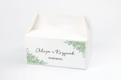 Ozdobne pudełko na ciasto - Eleganckie kwiaty - Sukulenty