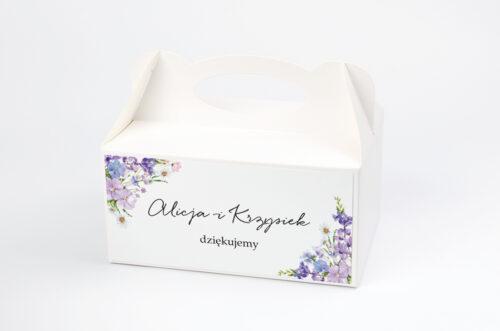 Ozdobne pudełko na ciasto - Eleganckie kwiaty - Polny wianek