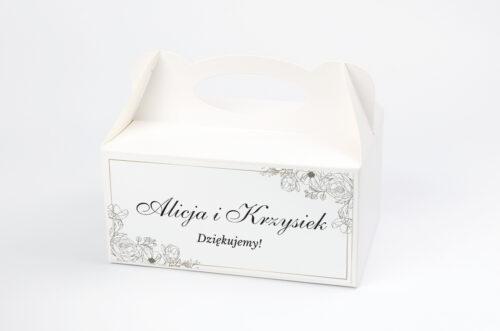 Ozdobne pudełko na ciasto - Geometryczne ze zdjęciem - Biała Kompozycja