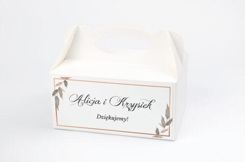 Ozdobne pudełko na ciasto - Geometryczne ze zdjęciem - Serce
