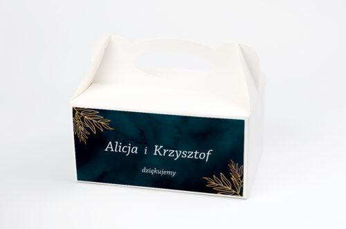Ozdobne pudełko na ciasto - Kontrastowe z kwiatami - Pastelowy bukiet