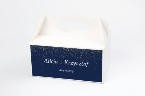 Ozdobne pudełko na ciasto - Kontrastowe z nawami - Niebo Pełne Gwiazd