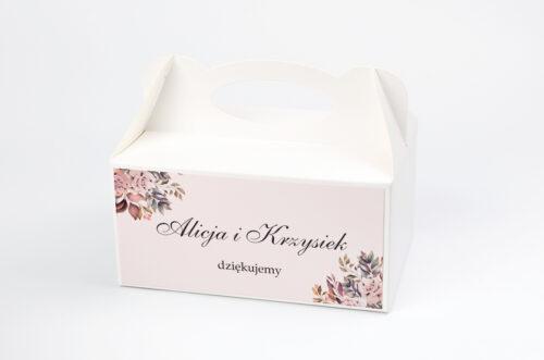 Ozdobne pudełko na ciasto - Kwiatowe Gałązki - Różowo-Bordowe Róże