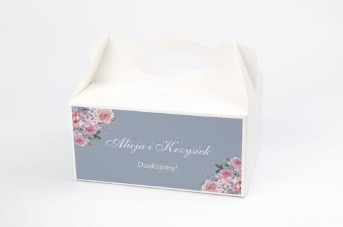Ozdobne pudełko na ciasto - Kwiatowe Nawy - Różowe różyczki