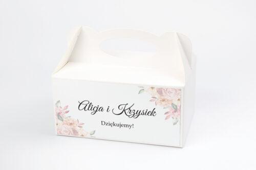 Ozdobne pudełko na ciasto - Z parą młodą - Pocałunek