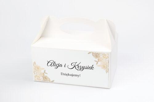 Ozdobne pudełko na ciasto - Z parą młodą - Wtuleni