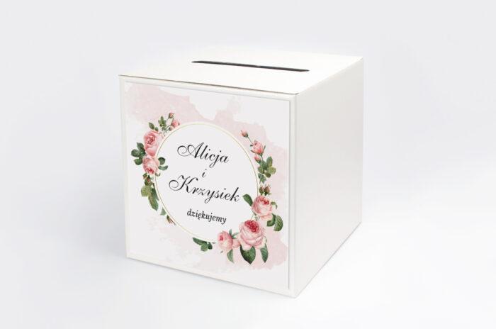 personalizowane-pudelko-na-koperty-geometryczne-ze-zdjeciem-rozowe-rozyczki-papier-satynowany-pudelko-