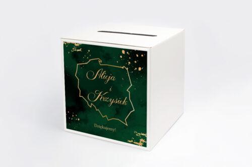 Personalizowane pudełko na koperty - Eleganckie - Szmaragdowe