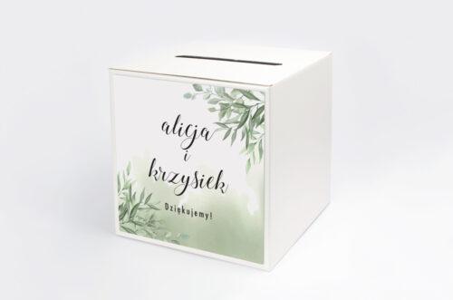 Personalizowane pudełko na koperty - Botaniczne Jednokartkowe - Ruskus