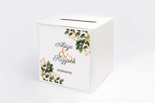 Personalizowane pudełko na koperty - Botaniczne Jednokartkowe - Jesienna kompozycja