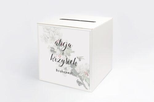 Personalizowane pudełko na koperty - Botaniczne Jednokartkowe - Kwiat Jabłoni