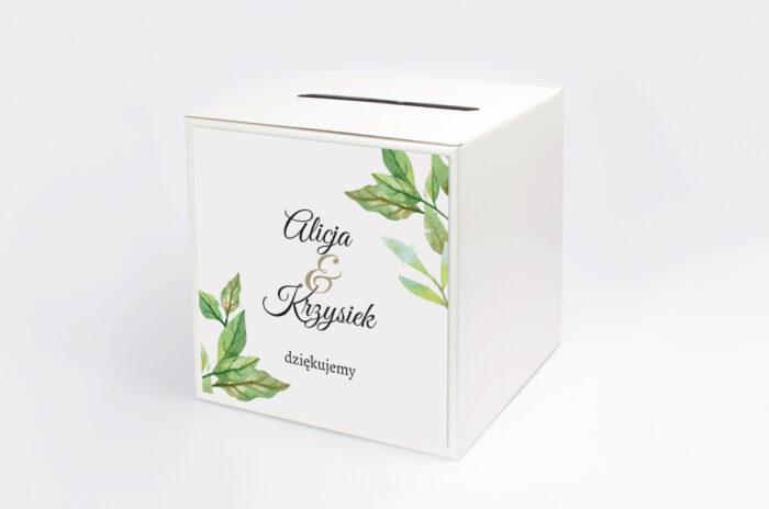 personalizowane-pudelko-na-koperty-botaniczne-jednokartkowe-zielone-liscie-papier-satynowany-pudelko-