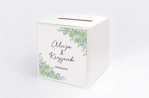 Personalizowane pudełko na koperty - Eleganckie kwiaty - Sukulenty