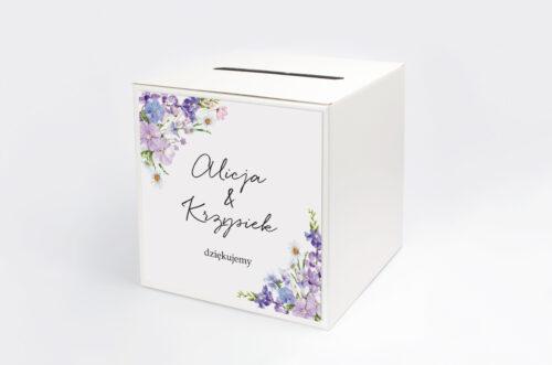 Personalizowane pudełko na koperty - Eleganckie kwiaty - Polny wianek