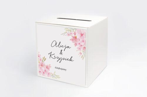 Personalizowane pudełko na koperty - Eleganckie kwiaty - Kwiaty wiśni