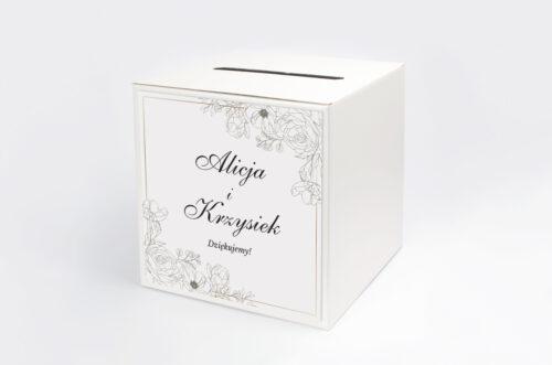 Personalizowane pudełko na koperty - Geometryczne ze zdjęciem - Biała Kompozycja