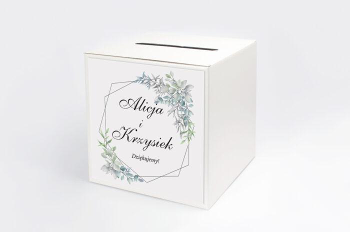 personalizowane-pudelko-na-koperty-geometryczne-ze-zdjeciem-zimowe-listki-papier-satynowany-pudelko-