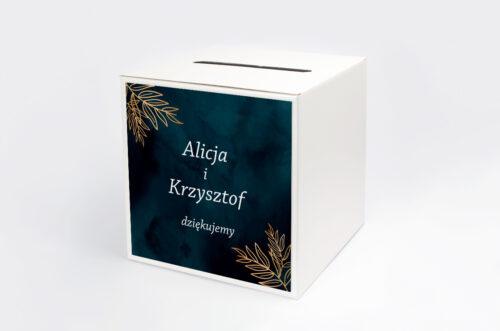 Personalizowane pudełko na koperty - Kontrastowe z kwiatami - Pastelowy bukiet