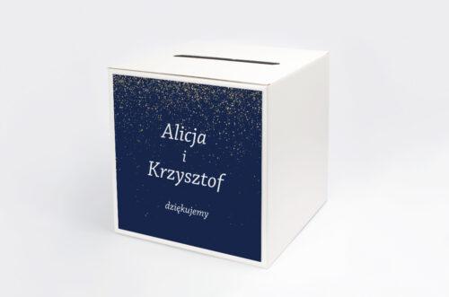 Personalizowane pudełko na koperty - Kontrastowe z nawami - Niebo Pełne Gwiazd