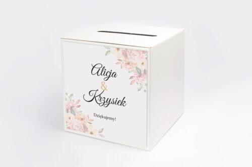 Personalizowane pudełko na koperty - Z parą młodą - Pocałunek
