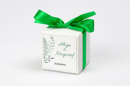 Ozdobne pudełeczko z personalizacją - Botaniczne Jednokartkowe - Zamiokulkas