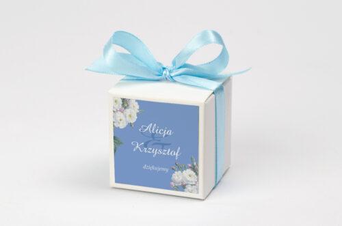 Pudełeczko z personalizacją do zaproszenia - Kwiatowe Nawy - Białe róże