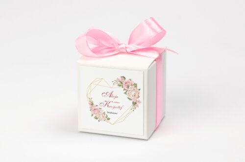 Pudełeczko z personalizacją - Angielskie Róże – Pudrowe
