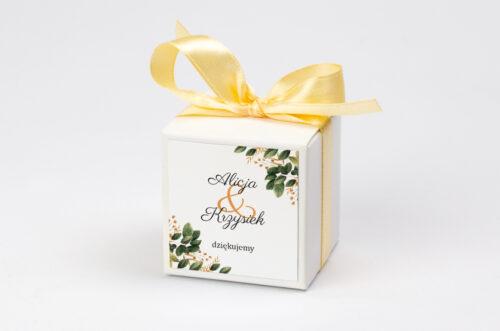 Ozdobne pudełeczko na krówki z personalizacją - Botaniczne Jednokartkowe - Jesienna kompozycja