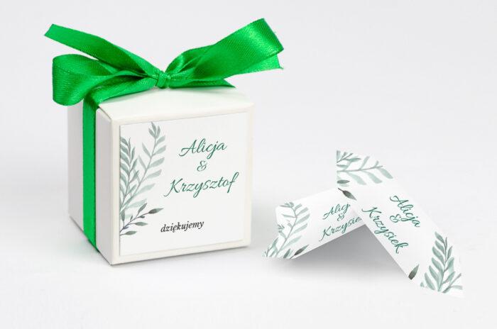 ozdobne-pudeleczko-z-personalizacja-botaniczne-jednokartkowe-zamiokulkas-kokardka--krowki-z-dwiema-krowkami-papier--pudelko-