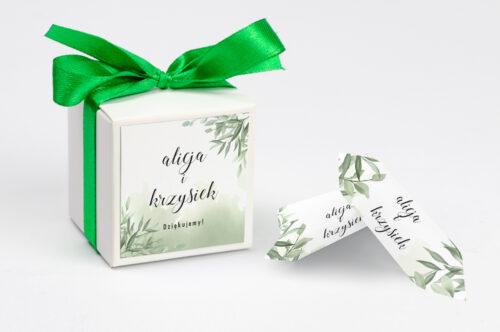 Ozdobne pudełeczko na krówki z personalizacją - Botaniczne Jednokartkowe - Ruskus