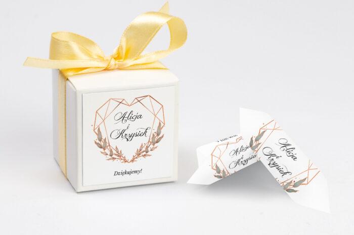 Ozdobne pudełeczko z personalizacją - Geometryczne ze zdjęciem - Serce