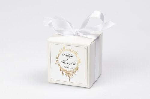 Ozdobne pudełeczko z personalizacją - Geometryczne ze zdjęciem - Biała Kompozycja