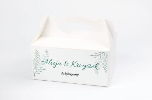 Ozdobne pudełko na ciasto - Botaniczne Jednokartkowe - Zamiokulkas