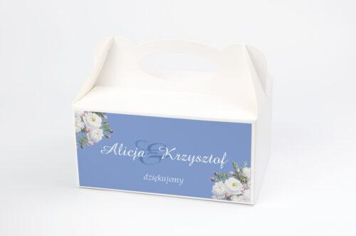 Ozdobne pudełko na ciasto - Kwiatowe Nawy - Białe róże