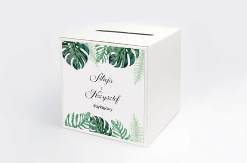 Personalizowane pudełko na koperty - Boho - Monstera