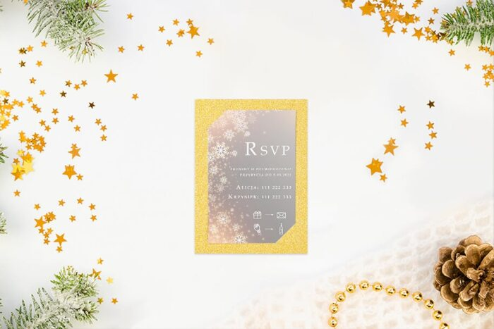 rsvp do zaproszeń ślubnych zimowych