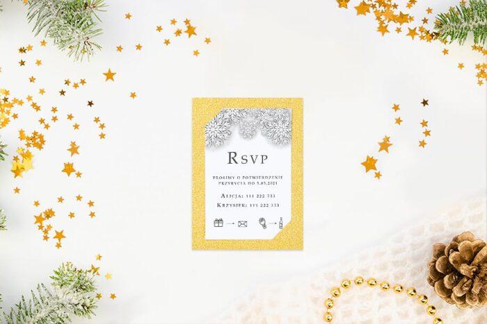 rsvp do zaproszeń zimowych