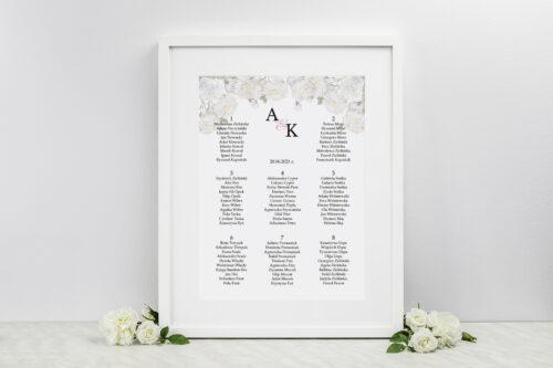 Plan stołów weselnych do zaproszeń Z parą młodą - Tańczący Walca