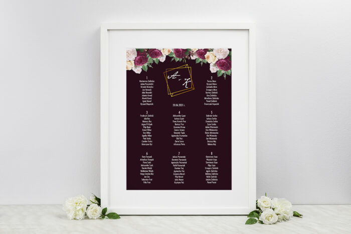 plan-stolow-weselnych-do-zaproszen-kontrastowe-z-kwiatami-kolorowe-roze-dodatki-ramka-papier-matowy