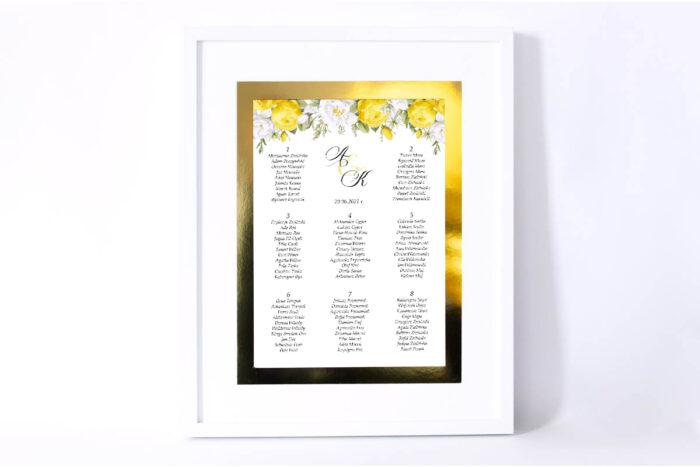 plan-stolow-weselnych-kwiatyzloto-zolte-roze-dodatki-ramka-papier-matowy-podkladki-