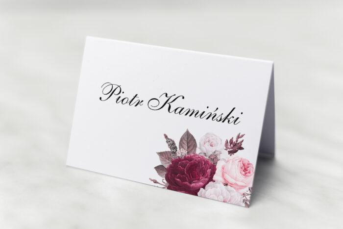 winietka-slubna-do-zaproszenia-geometryczne-kwiaty-amarantowy-bukiet-papier-matowy