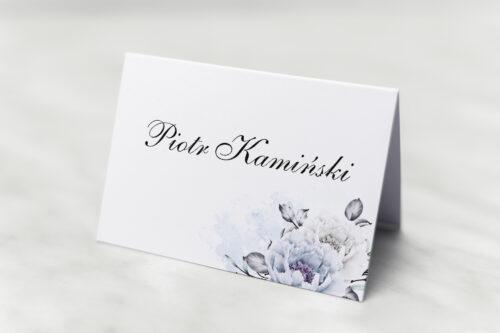 Winietka ślubna do zaproszenia Geometryczne Kwiaty - Błękitne kwiaty