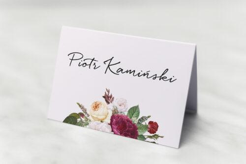 Winietka ślubna do zaproszenia Eleganckie kwiaty - Bordowe róże