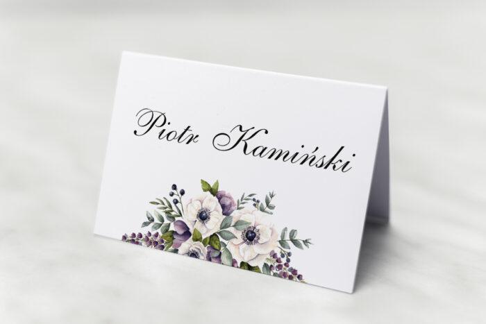 winietka-slubna-kwiatowe-galazki-bialo-fioletowe-anemony-papier-satynowany