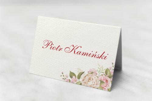 Winietka ślubna - Angielskie Róże – Pudrowe