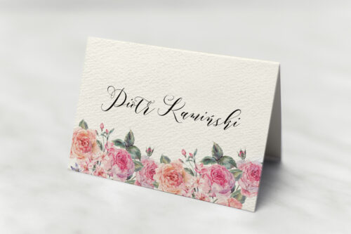 Winietka ślubna - Angielskie Róże – Różowe i Herbaciane